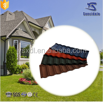 asphalt shingles low price cheap 60x60cm colorful stone coated metal roofing tiles manufacturer sancidalo roof tile