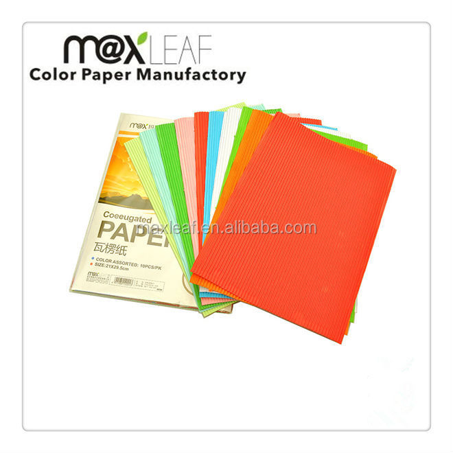 Colorful crinkled paper