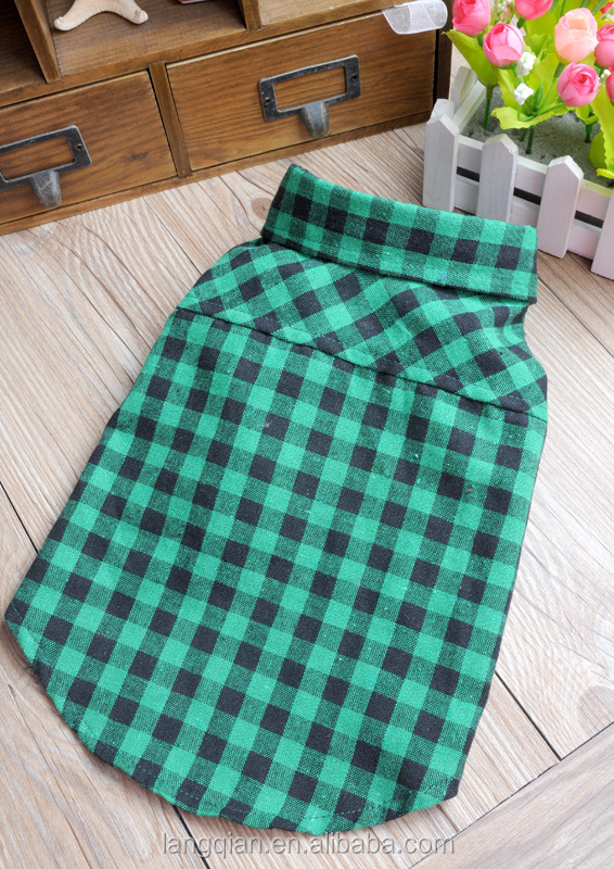 Cheap and high quality dog clothes Pet Clothes Brand Plaid Dog Shirt with Dog Teddy clothes