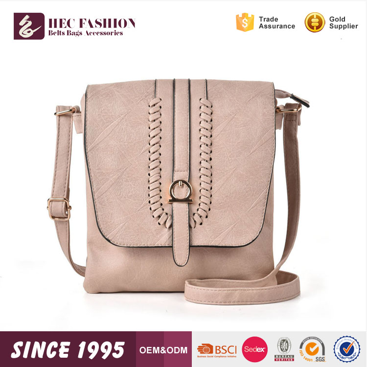 HEC Sale 2017 Fashion Trend Hand Knitting Women Pu Leather Handbag Bags