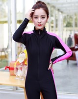 Long sleeve girl swimsuit one piece 2016
