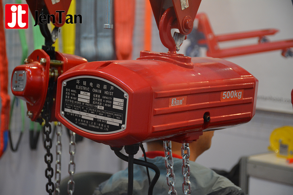 JenTan 3 Phase Motor 1Ton Durable Crane Electric Trolley Construction Lift Machine 0.5T Electric Chain Hoists