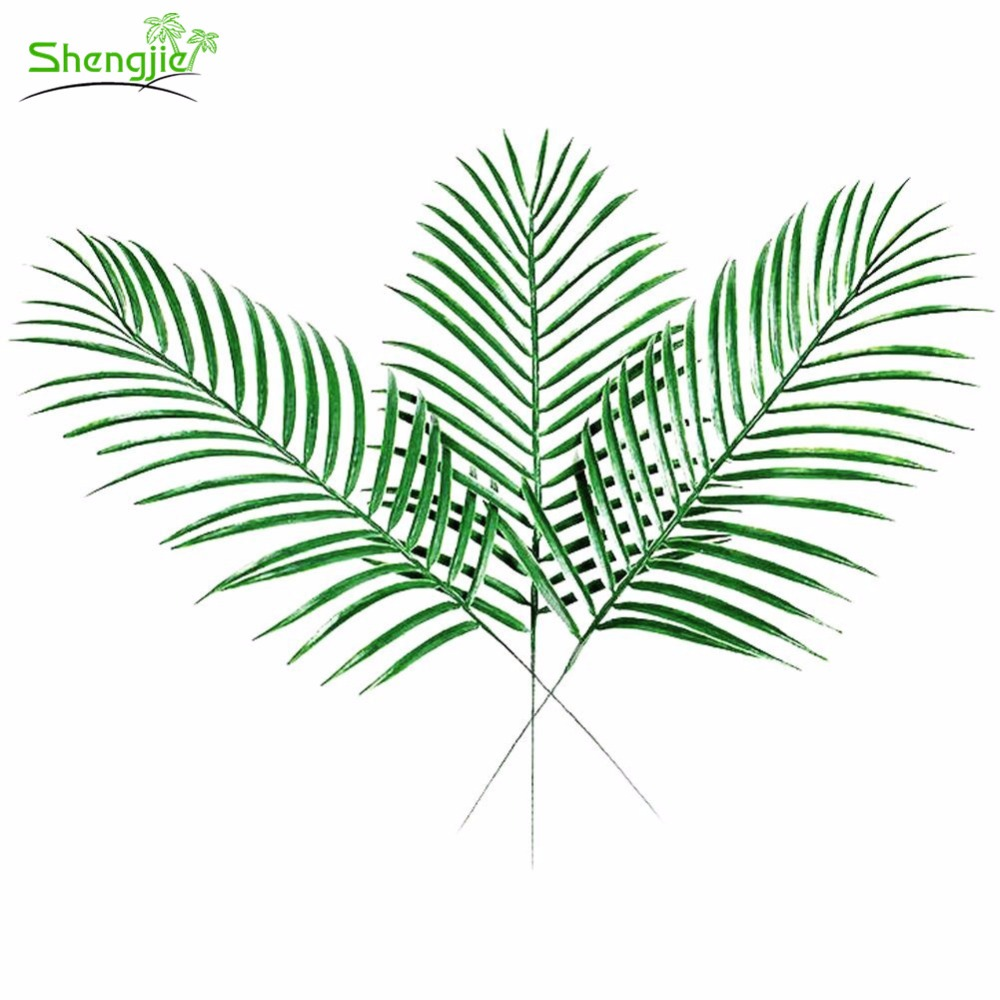 Hot sale evergreen artificial green tropical palm tree leaves