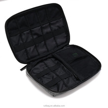 Custom Cheap Small Travel Electronics Cable Organizer Bag for Hard Drives, Cables, Charger