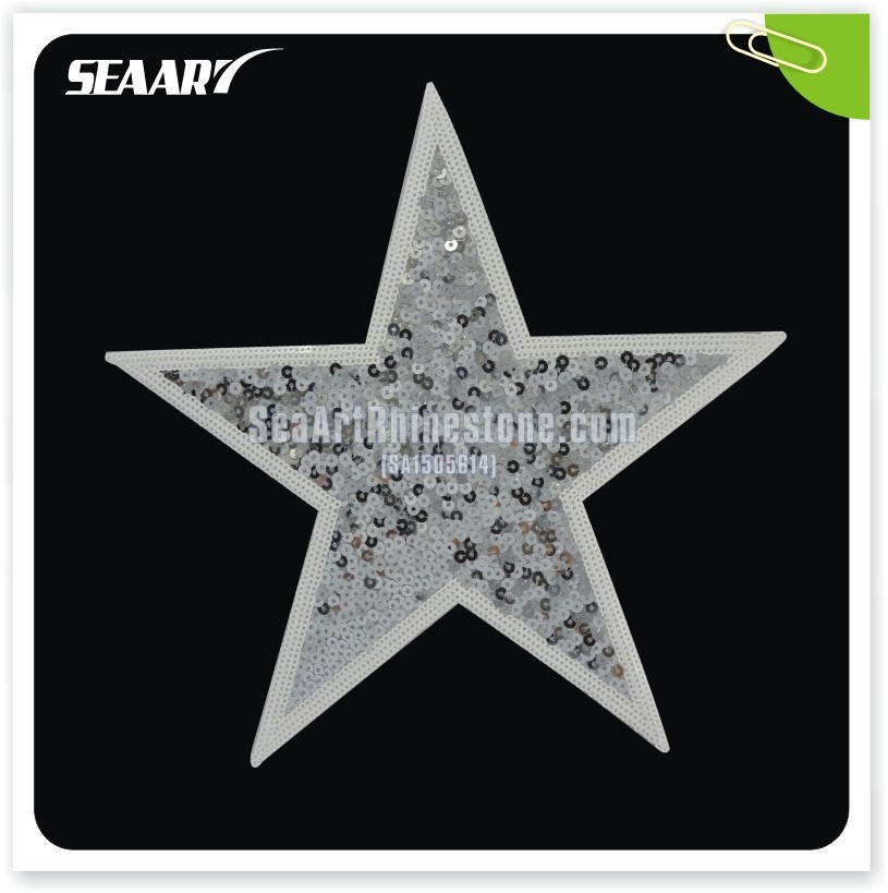 Star sequin hand embroidery designs for dress