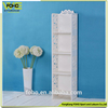 DIY white color dustproof home wall shelff, fashion multilayer composite wall mounted book shelf
