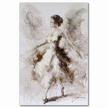 Hot sale abstract handmade beautiful dancing woman in dress body oil painting