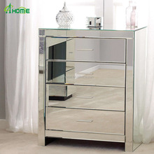 Venetian Clear Tallboy Mirrored 4 Drawer Chest for Fresh Home