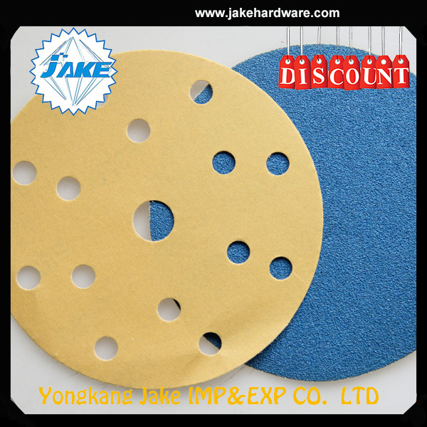 China manufacturer 5 inch sand paper, sanding disc, sandpaper discs with hole