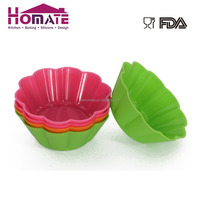 Custom Silicone RUbber Decoration Baking Muffin Cupcake Greaseproof Silicon Cake Cup Mould