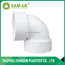 White UPVC Drain Pipe Fittings 90 Degree Pipe Bend