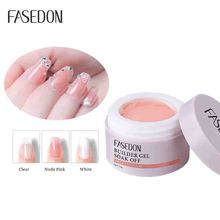 Fasedon builder gel nail UV polish nude pink non toxic UV gel high glossy