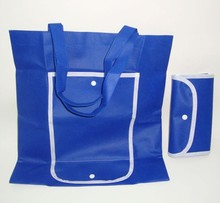 Handled Cheap Folding Fresh Shopping Polyester Bag