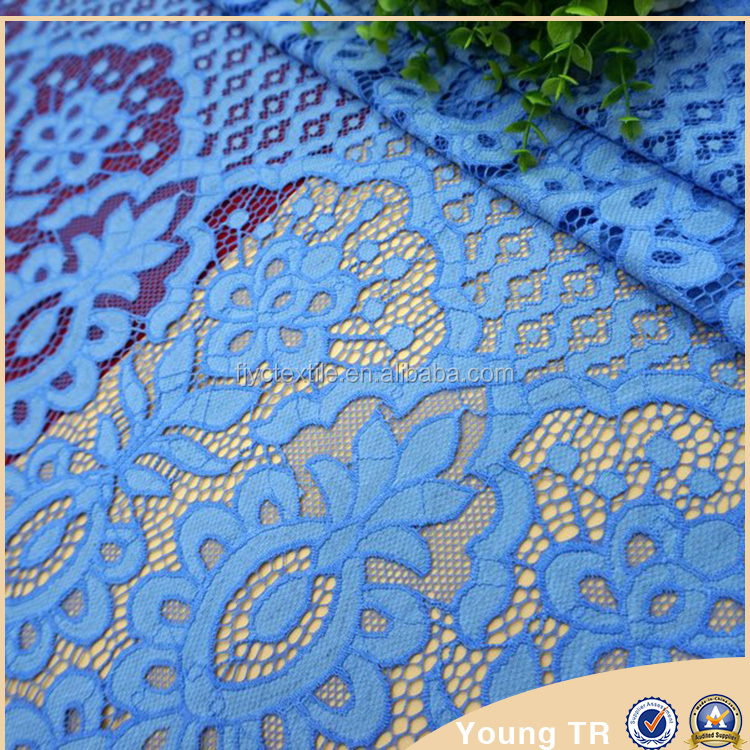 Top quality indian bridal eyelash cotton lace fabric