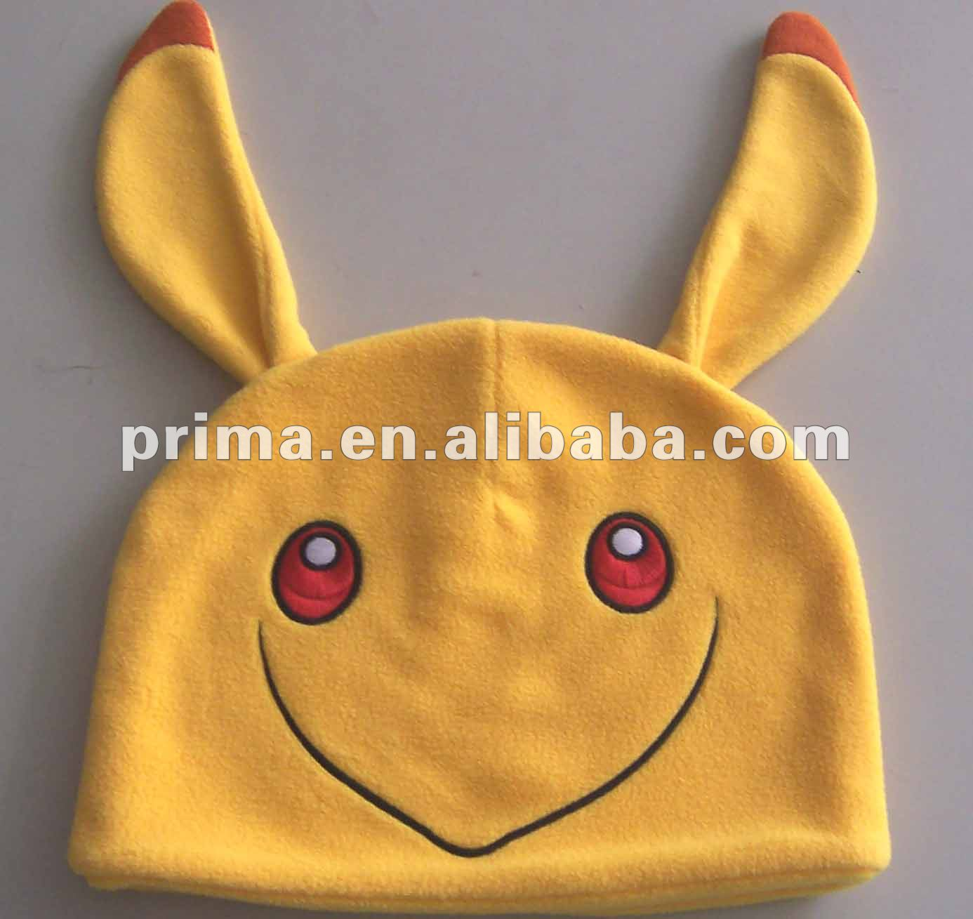 customized cute style polar fleece animal winter cap hat with funny ear