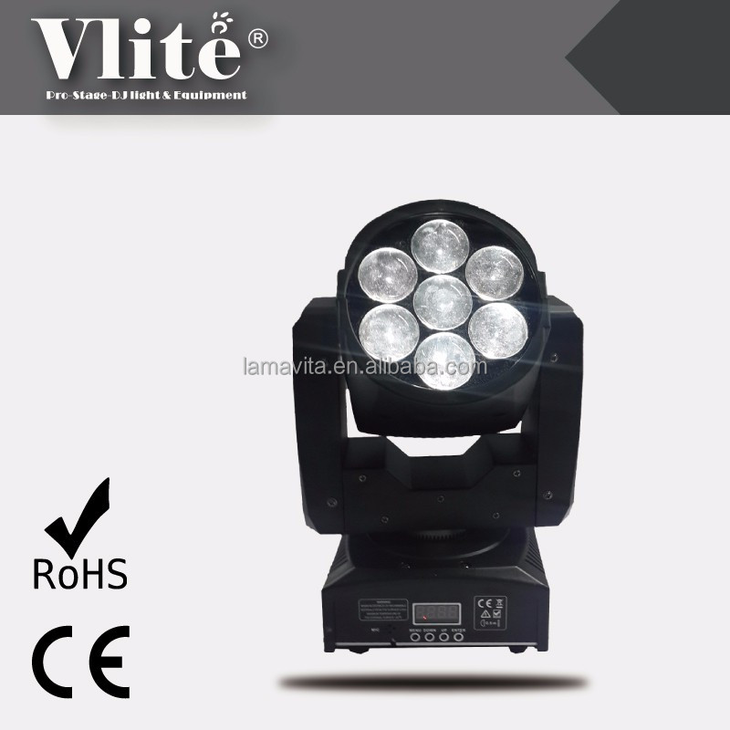 New Design Mini Zoom Wash Beam Quade LED 7 x 12W Light Equipment