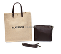 Jute Tote Bag Leather Handle for Woman