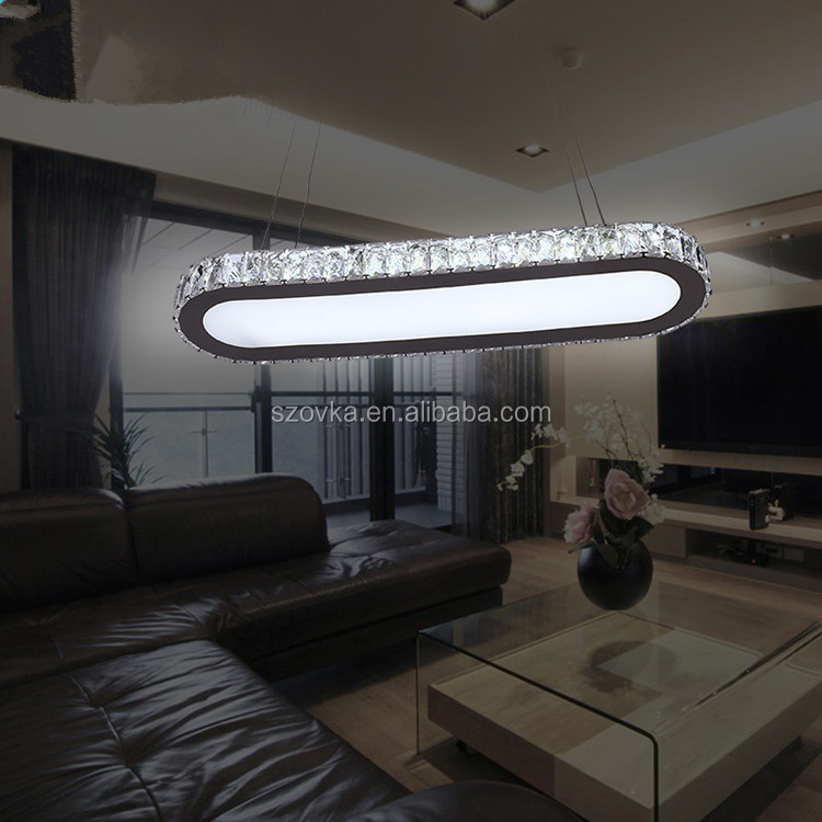 Led dining room chandelier simple <strong>modern</strong> creative bar counter lighting stainless steel wire cutting lights
