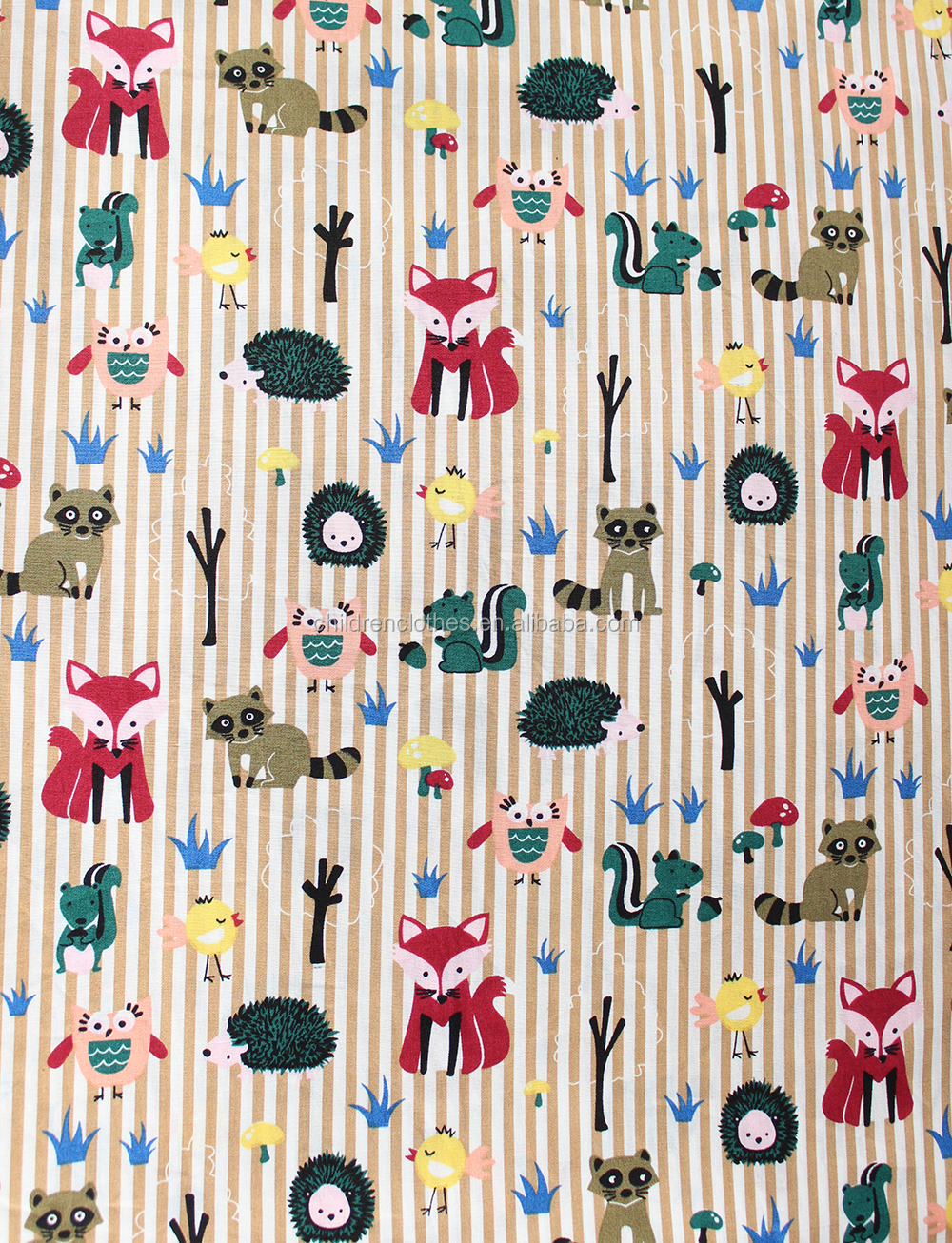 Cheap wholesale factory price lovely cotton fabric for for Wholesale childrens fabric