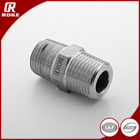 Roke Straight SS316 BSP to NPT Thread Pipe Fitting Nipple