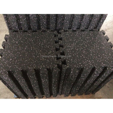 Fitness EPDM Rubber Mat Gym Rubber Flooring Mat in Interlocking
