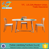 simple solid wood dining table and chair set DT007-07