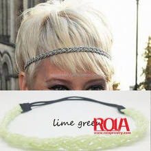 Braided Non Slip Style Sweaty Thick Hair Bands