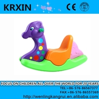 purple head plastic deer rocking horse toy for kids KRX-1701 plastic rocking toy