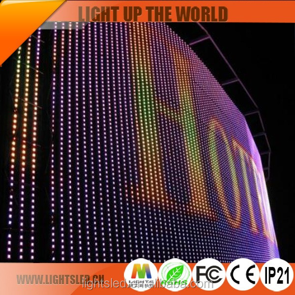 2016 p25 transparent mesh video solar led large screen led panel for sale