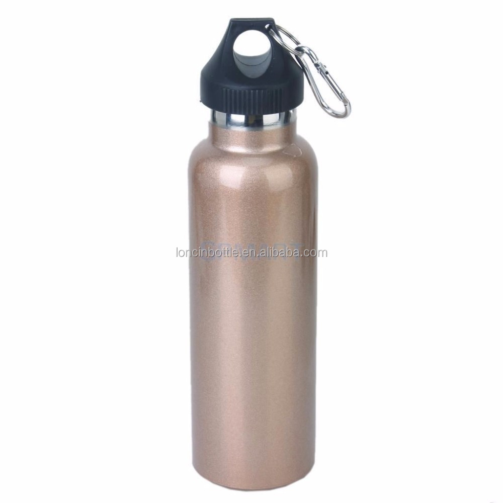600ml Plating Color Sports Water Bottle With Climbing Hook
