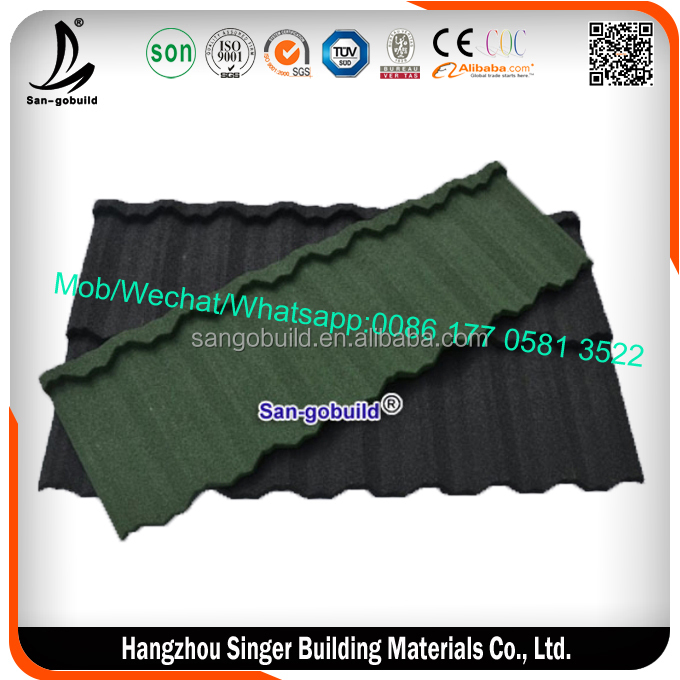 New Style 0.5 mm High Quality Stone Coated Steel Roofing Supplies, Color Roofing Sheet