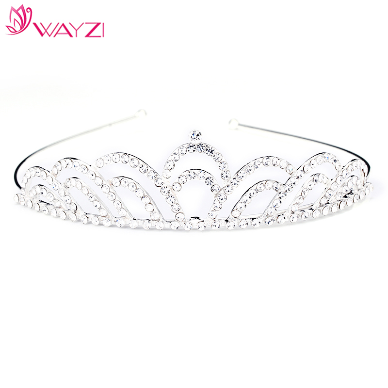 Fashion design hair jewelry colored rhinestone tiaras