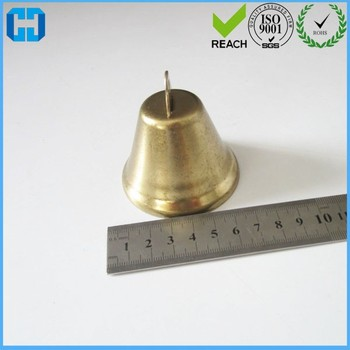 Huge Gold Metal Jingle Bell Pet Bell Charms Craft Sewing Manufacturer