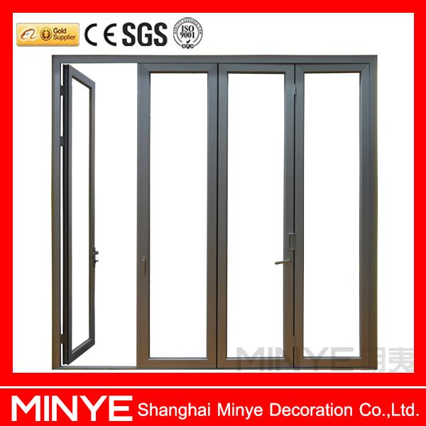 China Supplier Aluminum Glass Doors Bathroom Folding Door