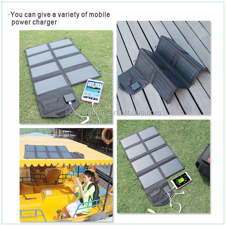 28W multi junction solar cell for camping and travelling