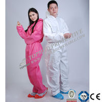 disposable PP/PP+PE/SMS/cheap boiler suits coverall work wear