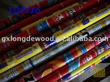 Newspaper style PVC coated wooden broom stick with Italian screw