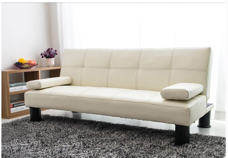 2016 Hot Selling PVC White Simple Living Room Sofa Bed China Home Furniture