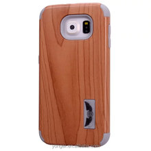 shockproof wood pattern case for samsung galaxy s6 ,for samsung galaxy s6 wood pattern case