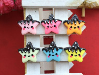 Resin Smile Pentagram Biscuits 6 Colors DIY Jewelry Accessory