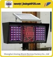 Traffic LED flashing light,solar warning beacon,Waterproof outdoor slow traffic signal