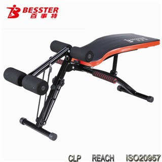 Bst js fa mini multi sit up bench with user manual home gym