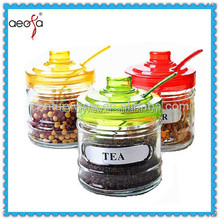 Popular Coffee Sugar Tea small glass container food grade glass jars set