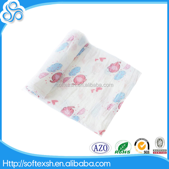 high sales baby muslin wraps comfortable swaddle blanket with cotton material
