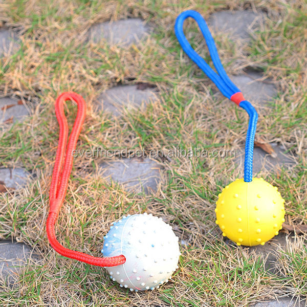 Dog toy rubber indestructible rope dog toy