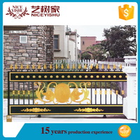 electric sliding main cast aluminum gate designs
