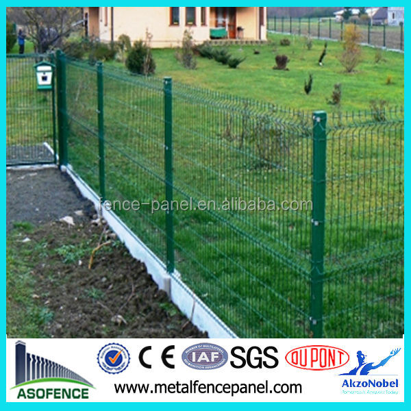 galvanized and PVC coated flower bed fencing