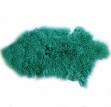 sell colorful high quality mongolian lamb sheep skin fur rug/ carpet