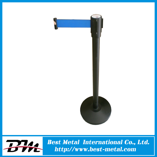 Powder Coating 3M Black Metal Airport Queue Barrier for Airway