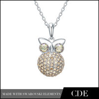 Hot Selling Crystal Owl Necklace
